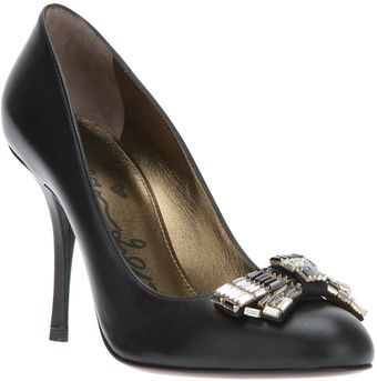 Lanvin Bow Stiletto Pump - Lyst