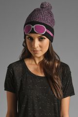Marc By Marc Jacobs Trompe Loeil Beanie in Purple - Lyst