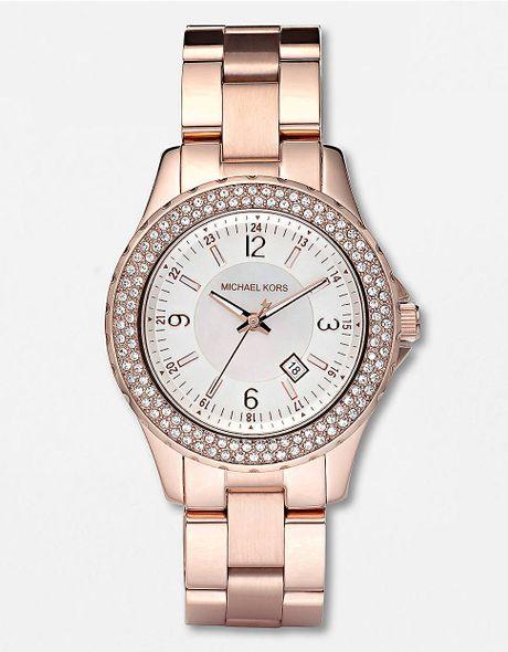 Rose Gold Watch Michael Kors Chronograph Michael Kors Ladies 39 Rose Gold