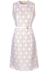 Michael Kors Flared Eyelet Dress
