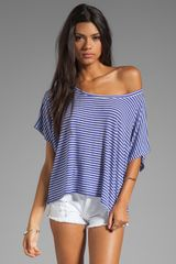 Rachel Pally Rib Darby Top in Purple - Lyst