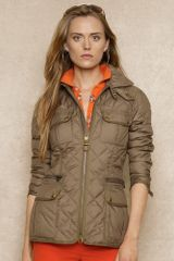 Ralph Lauren Blue Label Quilted Cargo Jacket - Lyst