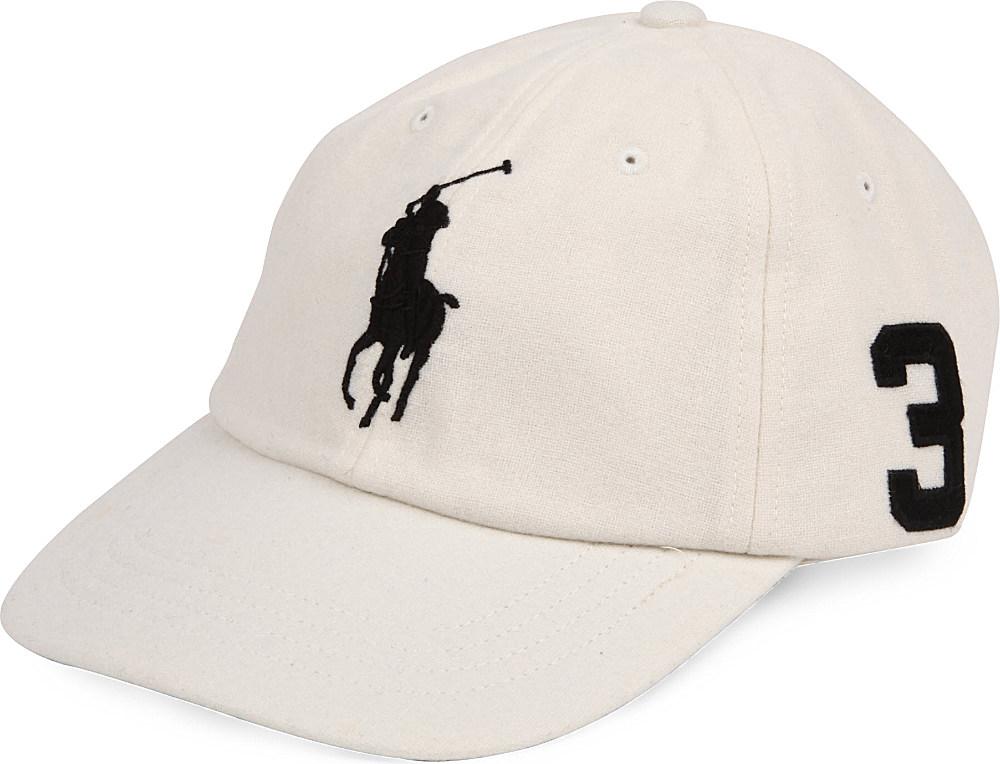 ralph lauren big pony woolblend baseball cap in beige for. Black Bedroom Furniture Sets. Home Design Ideas