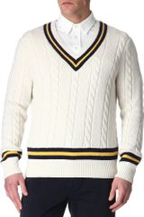 Ralph Lauren Cricket Cable Knit Jumper - Lyst