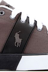 Ralph Lauren Burwood Canvas Trainers - Lyst