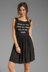Wildfox Couture Pizza Party Baby Doll Dress in Black - Lyst