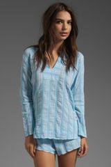 Xirena Sean Top in Baby Blue - Lyst