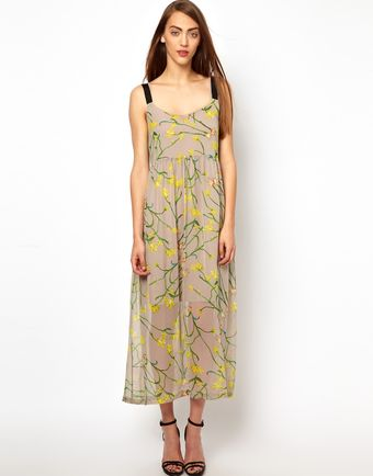 Antipodium Freudian Midi Silk Dress - Lyst