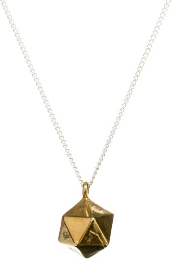 Asos  Icosahedron Necklace  - Lyst