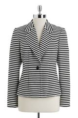 Calvin Klein Striped Onebutton Blazer - Lyst