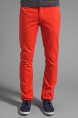 Cheap Monday Slim Chino Pants in Burnt Orange - Lyst