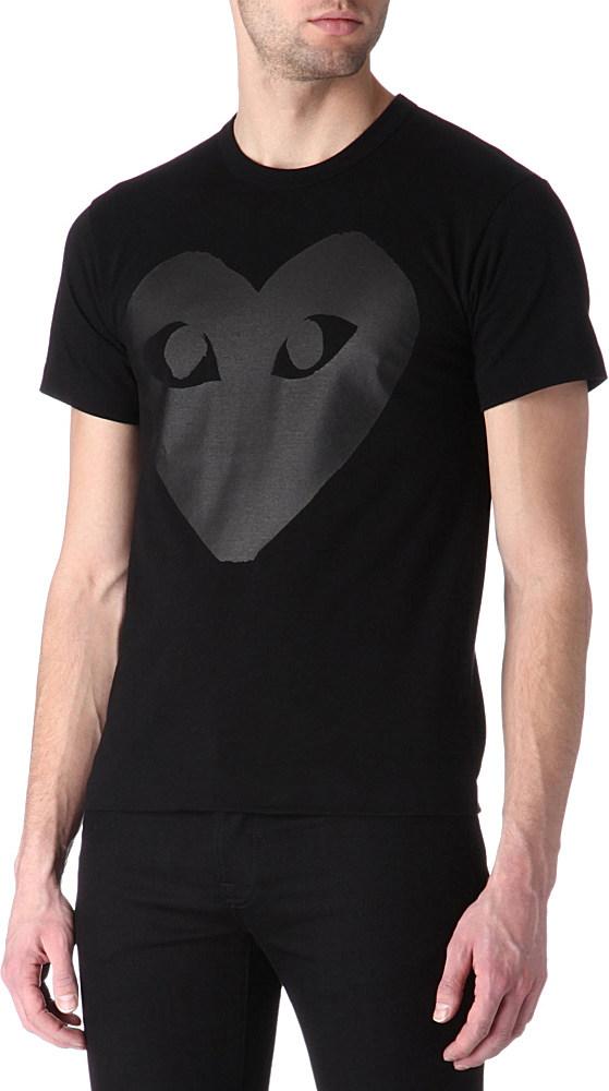 Play Comme Des Gar Ons Heart Logo T Shirt In Black For Men