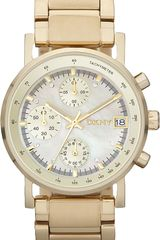 DKNY Goldplated Stainless Steel Chronograph Watch - Lyst