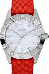 DKNY Womens Strawberry Python Leather Strap 36mm - Lyst