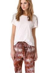 Elizabeth And James Monique Rhinestone Tshirt - Lyst