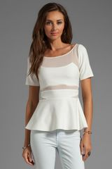 Elizabeth And James Selena Peplum Top in White - Lyst