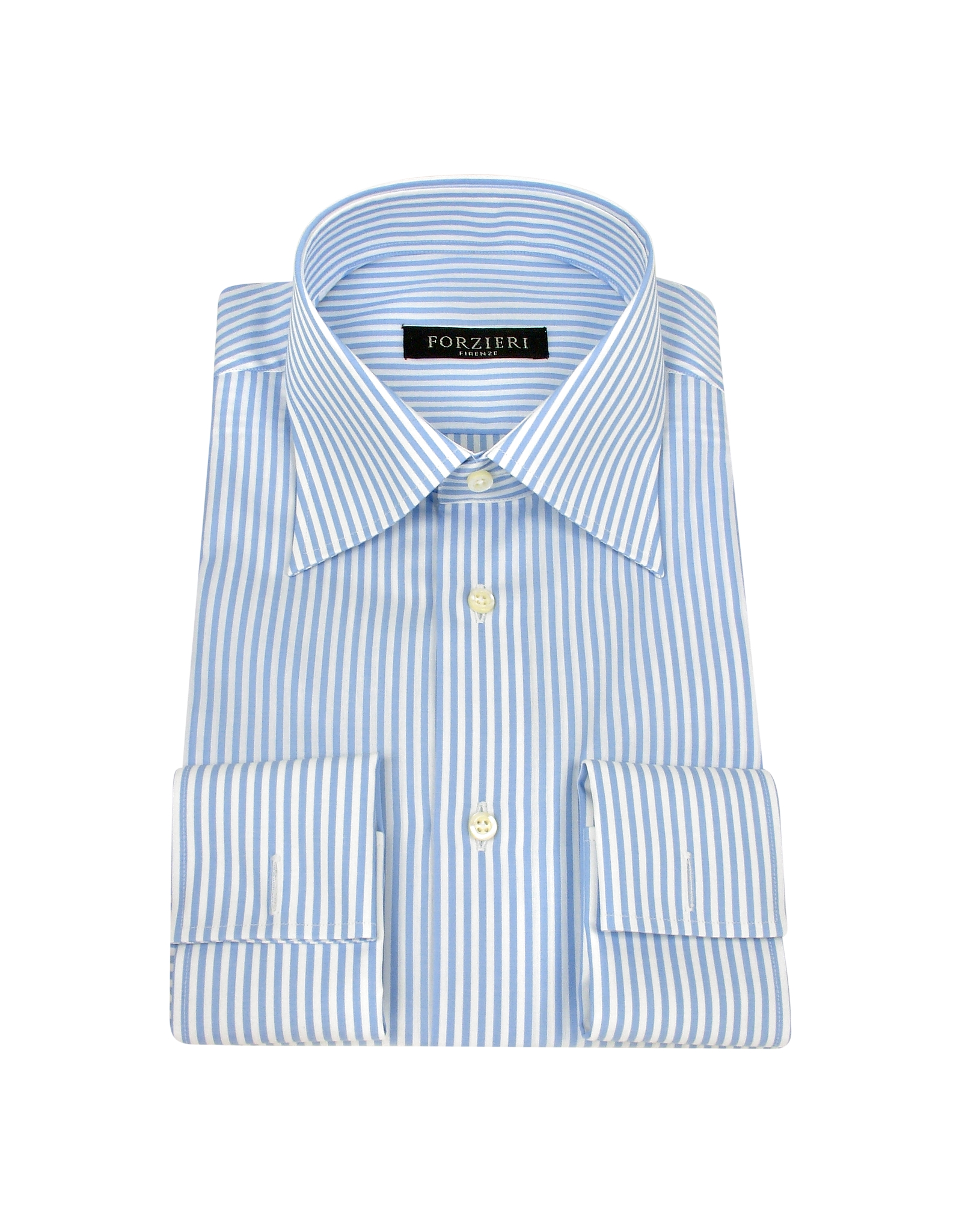 Lyst forzieri light blue and white stripe french cuff Light purple dress shirt men