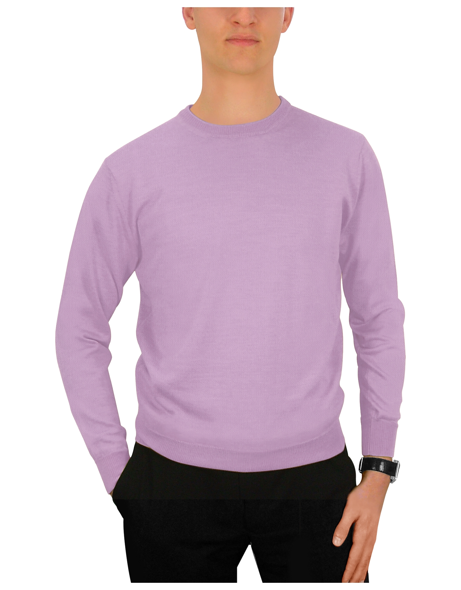 Forzieri Men'S Lilac Cashmere Crewneck Sweater in Purple for Men ...