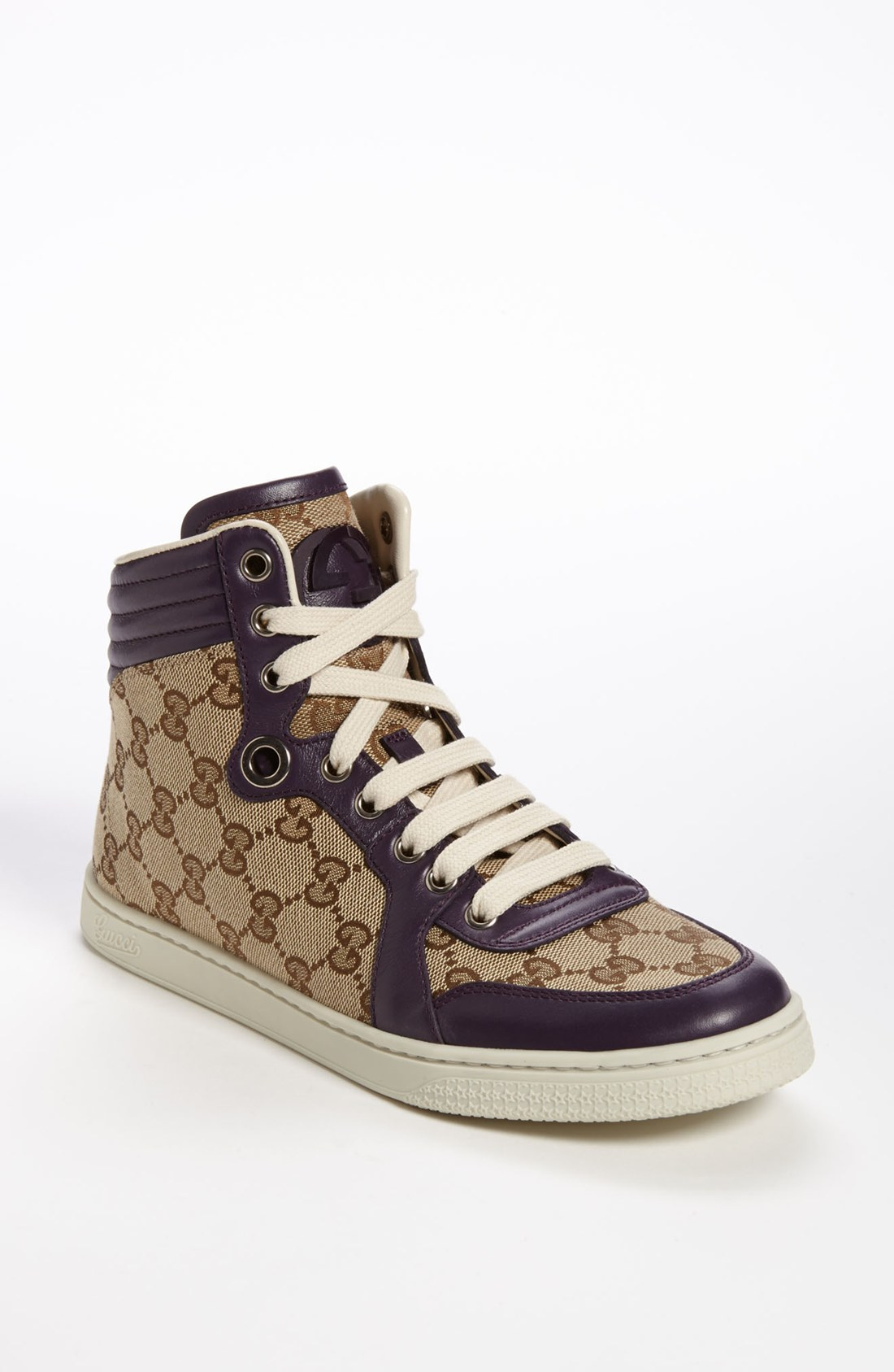 gucci coda high top sneaker in brown beige lyst. Black Bedroom Furniture Sets. Home Design Ideas