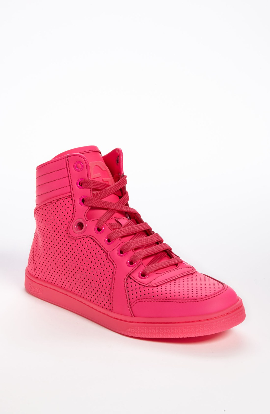 gucci coda high top sneaker in pink lyst. Black Bedroom Furniture Sets. Home Design Ideas