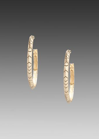 House Of Harlow Tribal Hoop Earrings in Metallic Gold - Lyst