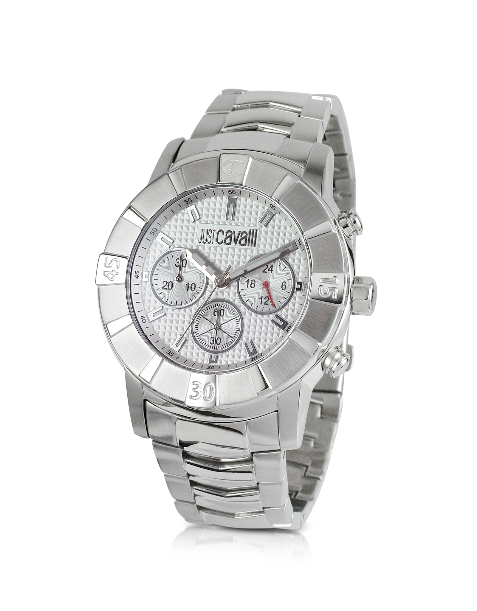 just cavalli chrono in silver for