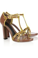 Marni Patent Leather Sandals - Lyst