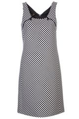 Michael Kors Jacquard Zip Dress - Lyst
