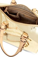 Michael Kors Grayson Metallic Bowling Bag - Lyst