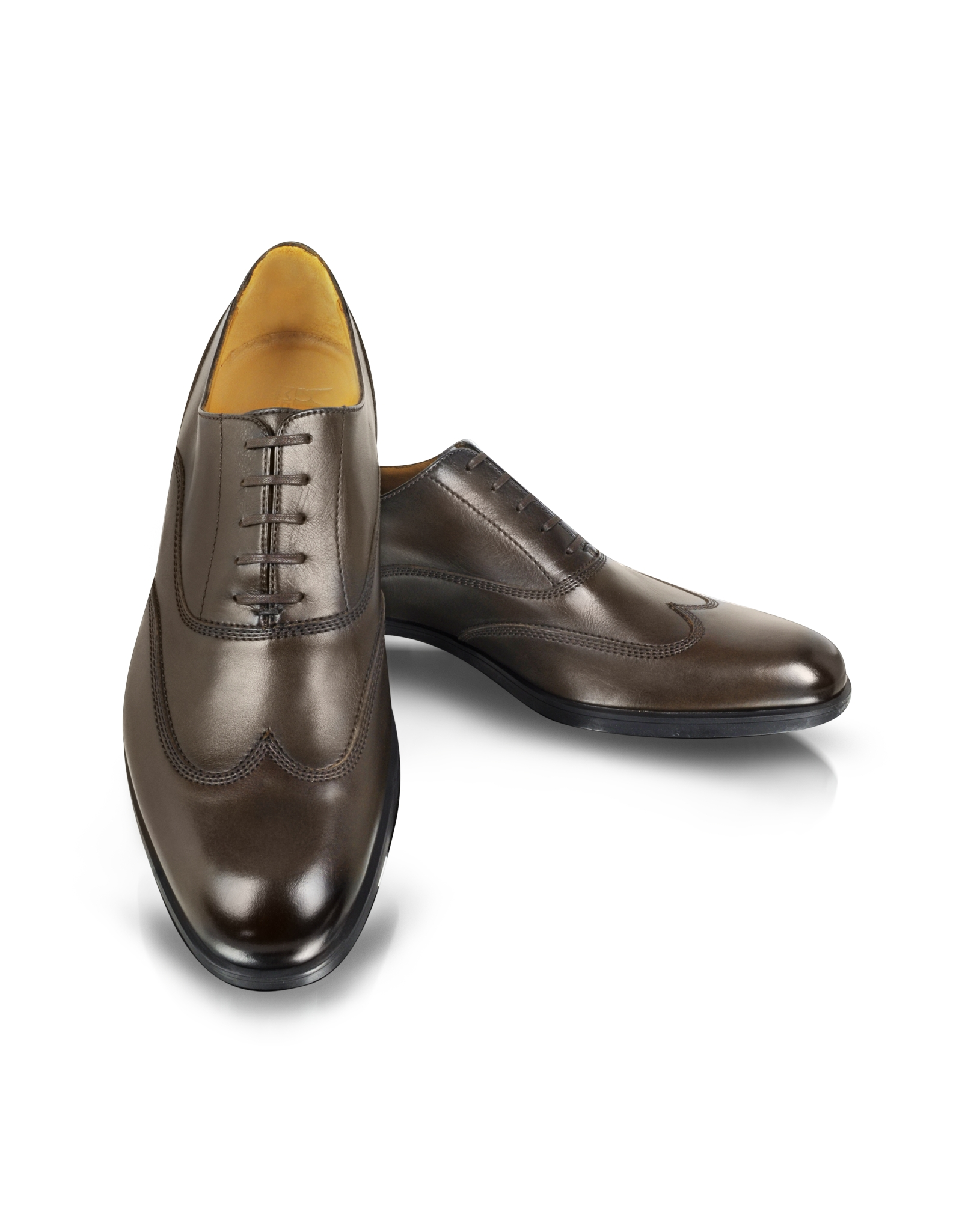 Preferred Lyst - Moreschi Brunei Brown Leather Wingtip Oxford Shoes in Brown  RT53