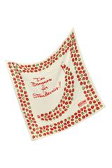 Moschino Strawberry Print Silk Square Scarf - Lyst