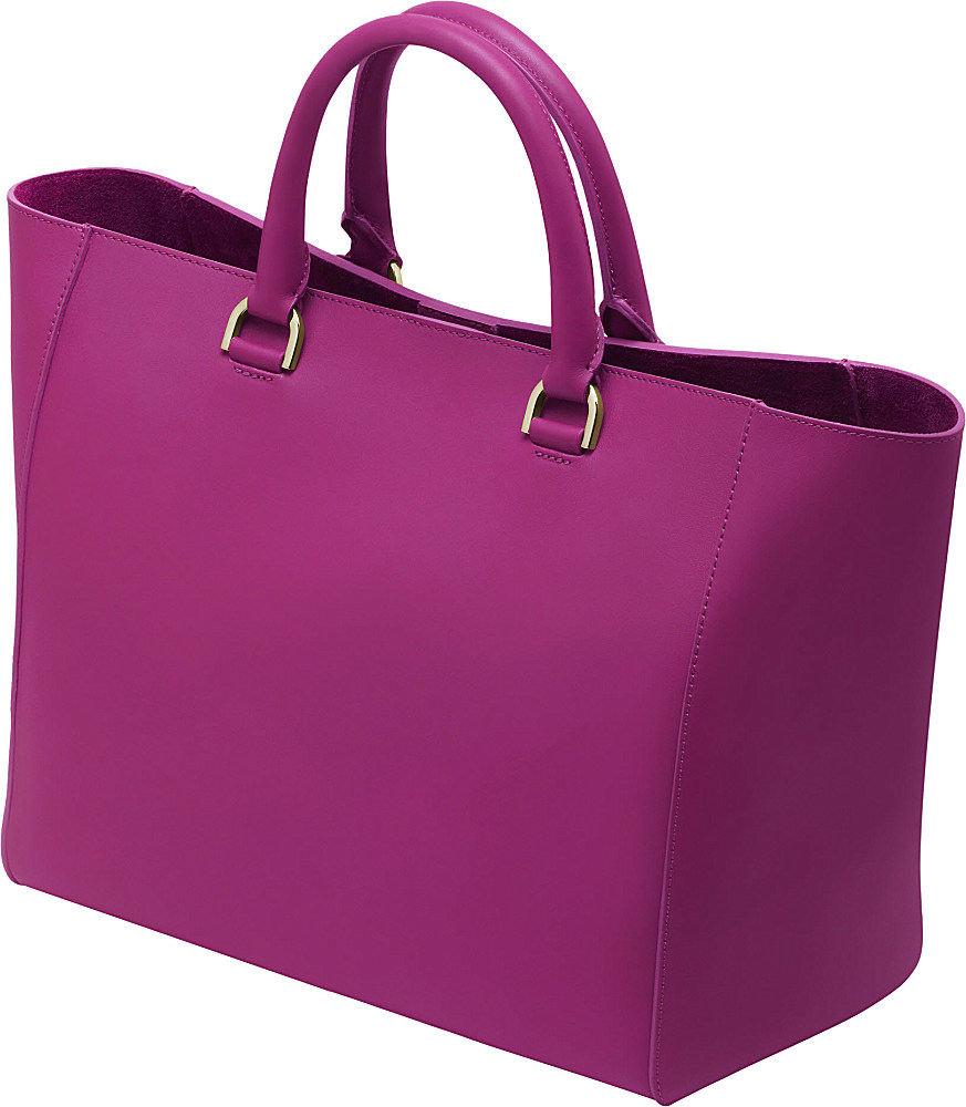 14f5b53acf ... italy mulberry willow silky calf leather tote in purple lyst ee1f9 3832f