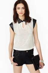 Nasty Gal Hard Spike Tee - Lyst