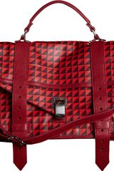 Proenza Schouler Ps1 Medium Leather Triangle Print - Lyst