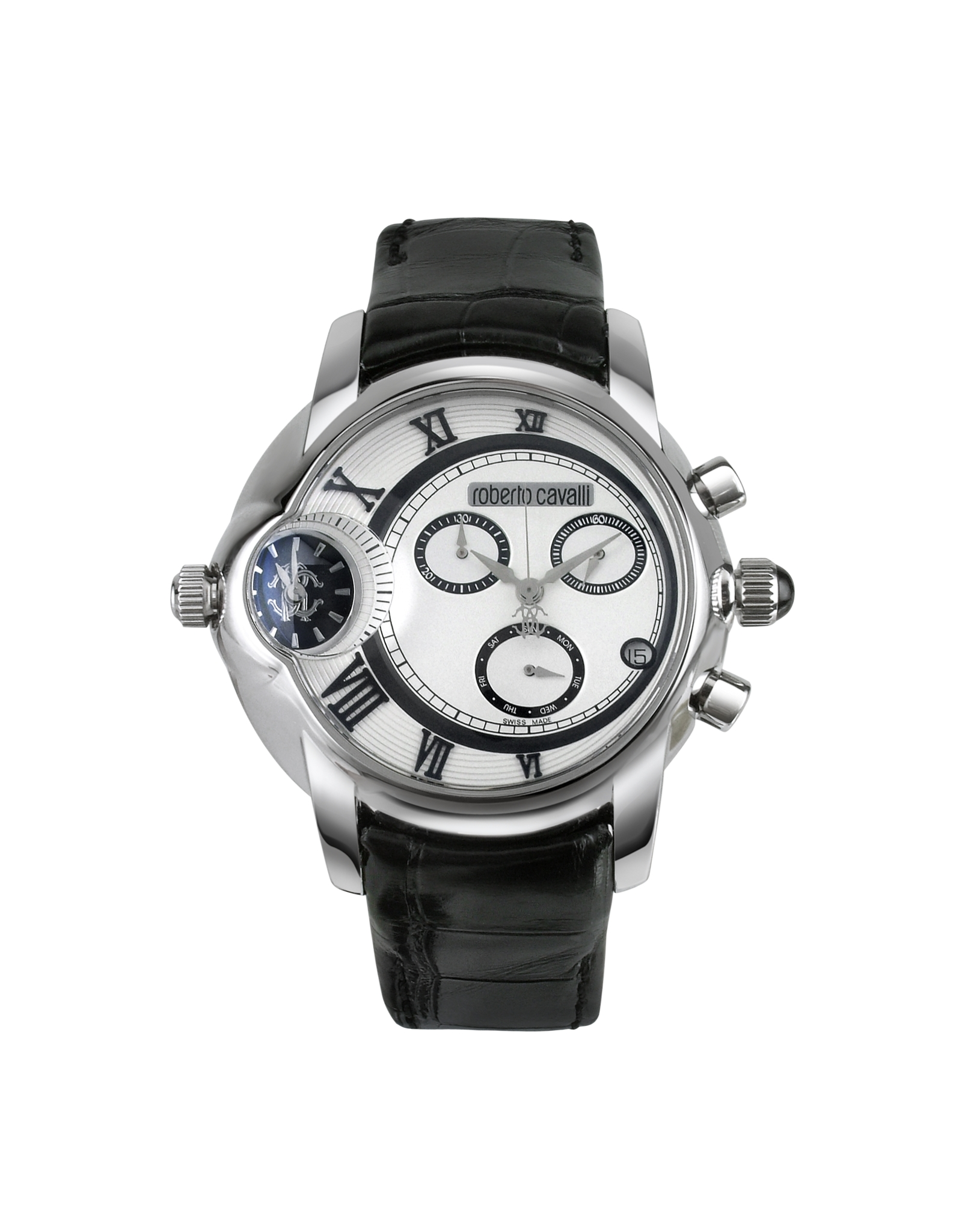 roberto cavalli caracter men s dual time chronograph watch in gallery