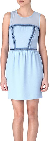Sandro Reconciliation Chain detail Dress in Blue (horizon) - Lyst