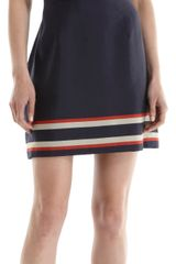 Sea Banded Stripe Short Sleeve Dress - Lyst