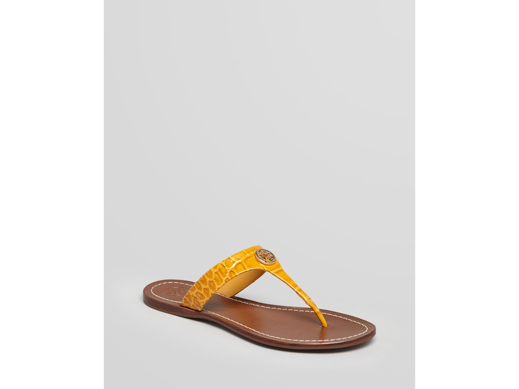 29f92a2292dc80 Lyst - Tory Burch Flat Thong Sandals Cameron in Yellow