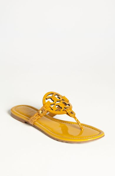 Tory Burch Miller Sandal In Yellow Golden Yellow Lyst