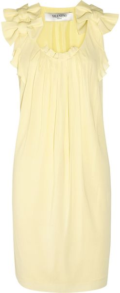 Valentino Bowembellished Stretchgeorgette Dress - Lyst
