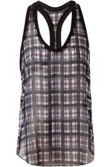 3.1 Phillip Lim Check Printed Silk Tank - Lyst