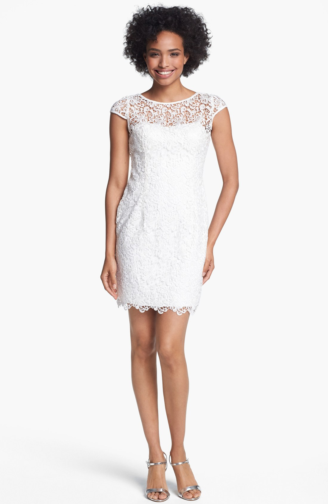 Adrianna Papell Woman Lace Dress – fashion dresses