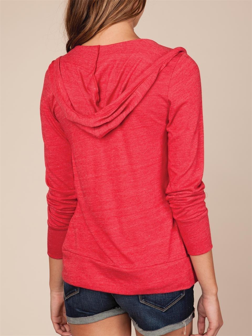 Lyst - Alternative Apparel Womens Ecoheather Zip Hoodie in Red dde5ea9092