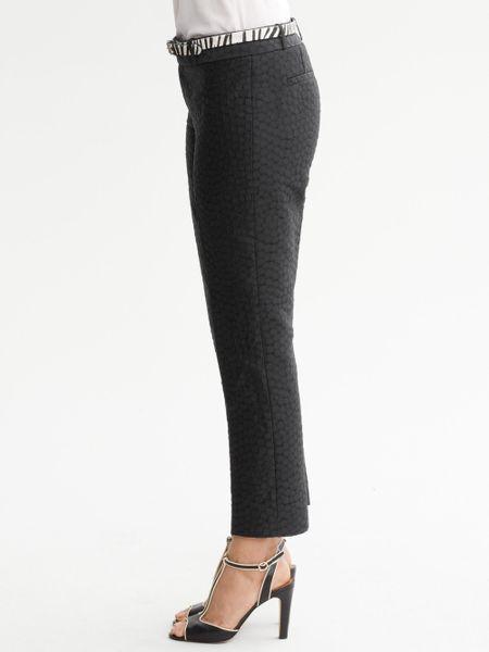 Banana Republic Hampton Fit Black Crop Pants In Black Lyst