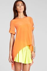 BCBGMAXAZRIA Top Caterina Silk - Lyst