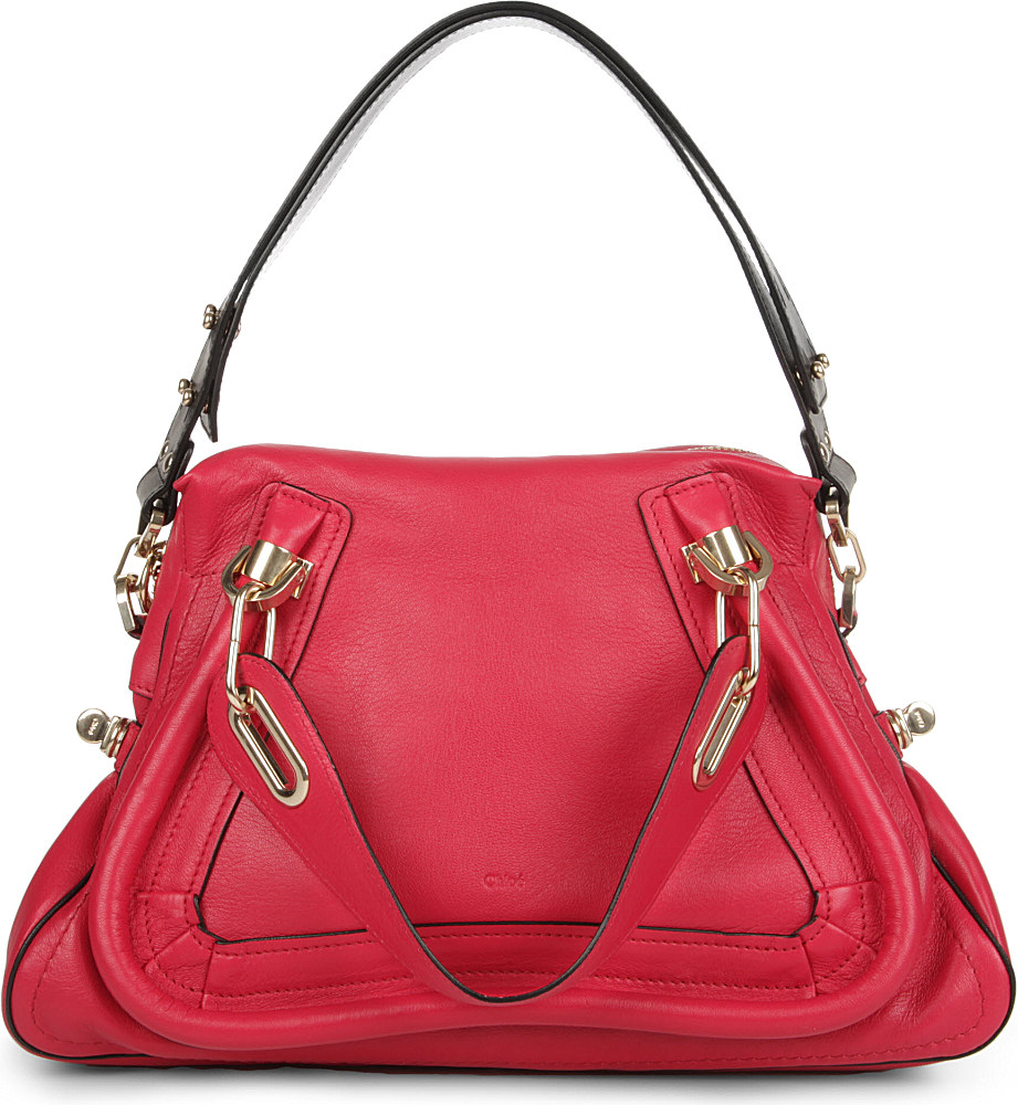 Chlo¨¦ Paraty Military Medium Shoulder Bag in Red (peony red) | Lyst