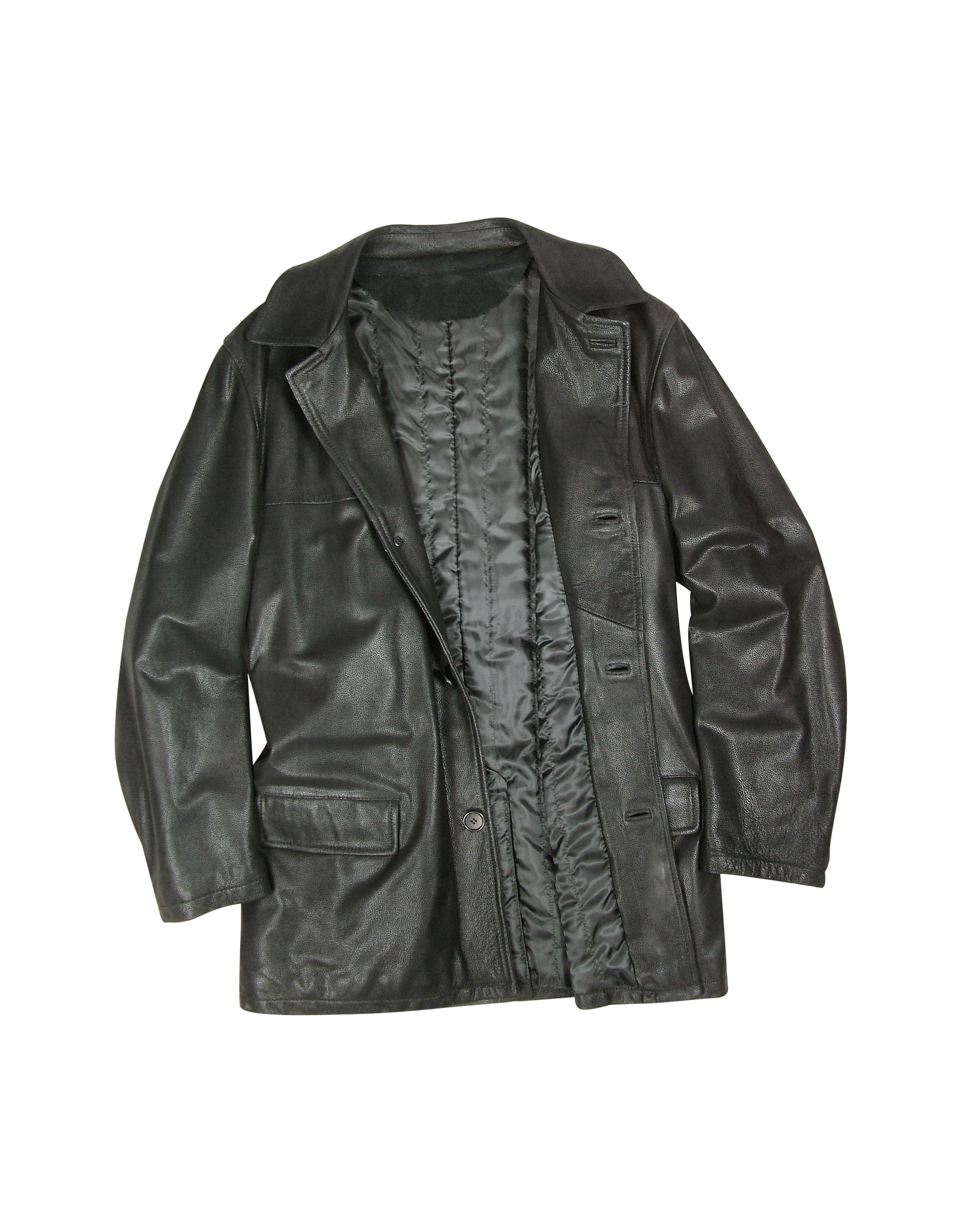 forzieri mens black leather jacket in black for men lyst