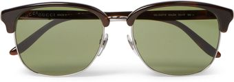 Gucci Metal and Acetate Sunglasses - Lyst