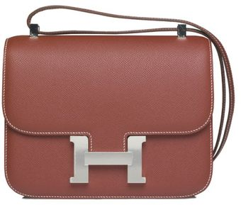 Hermes Small Brique Epsom Constance with Palladium - Lyst