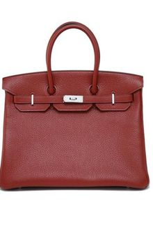 Hermes Small Rouge Togo Birkin with Palladium - Lyst